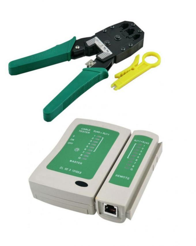 Network Cable Tester & Network Cable Crimp - RJ45 - Green
