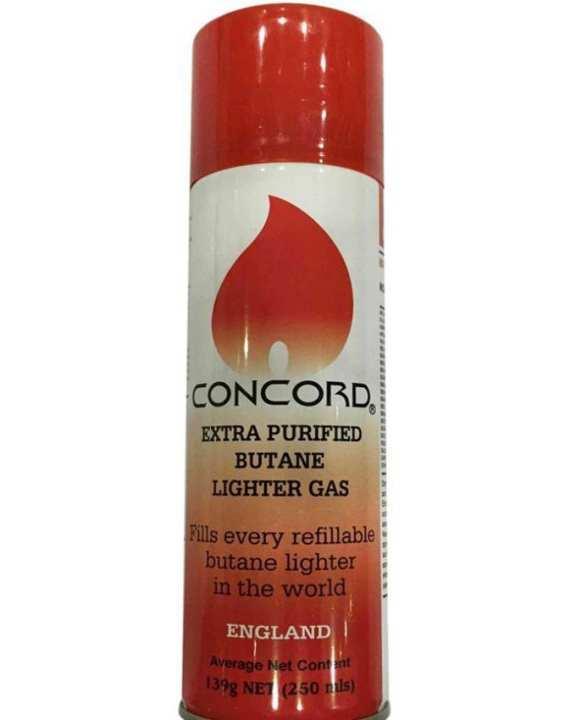 Concord Butane Lighter Gas Refillable - 250Ml