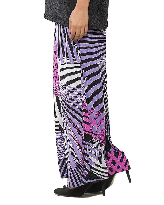 Multi Color Lycra Printed Palazzo for Women - GOL-PPP-963
