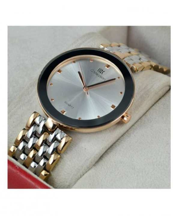 Golden & Silver Stainless Steel Analog Wrist Watch For Men