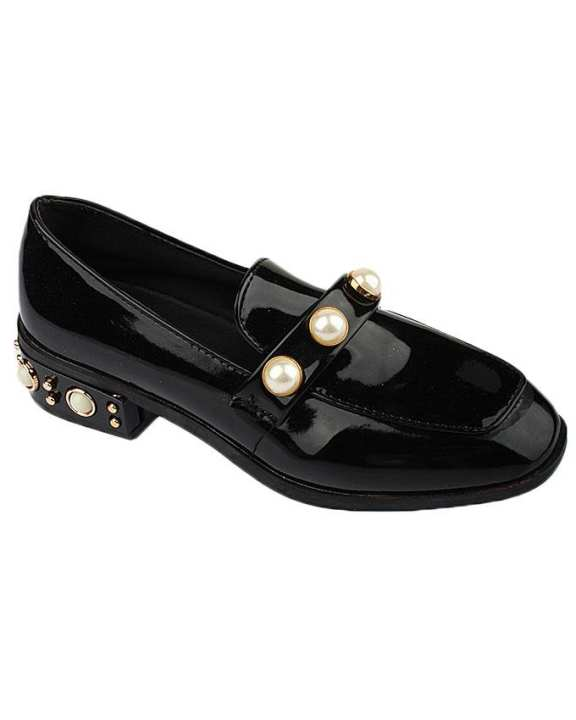 Black Synthetic Shoes For Women