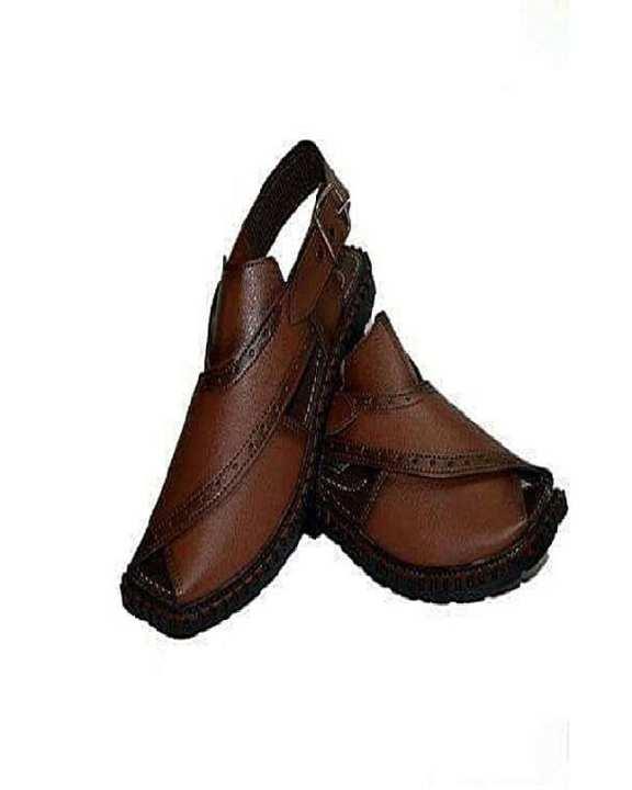 Mustard Peshawari Sandals For Men