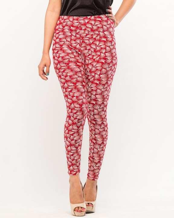 Maroon Printed Fashion Tights for Girls - BDF-T8085-109