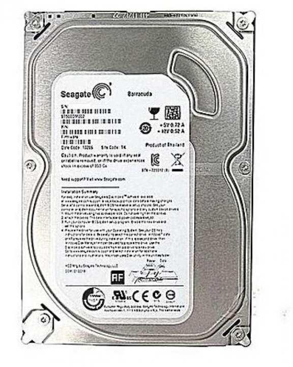 Hard Disk 500 GB For Desktop - Silver