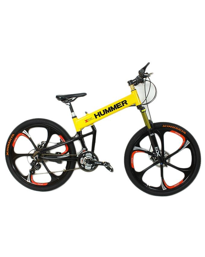 Hummer Folding Bicycle - Yellow 31652f463