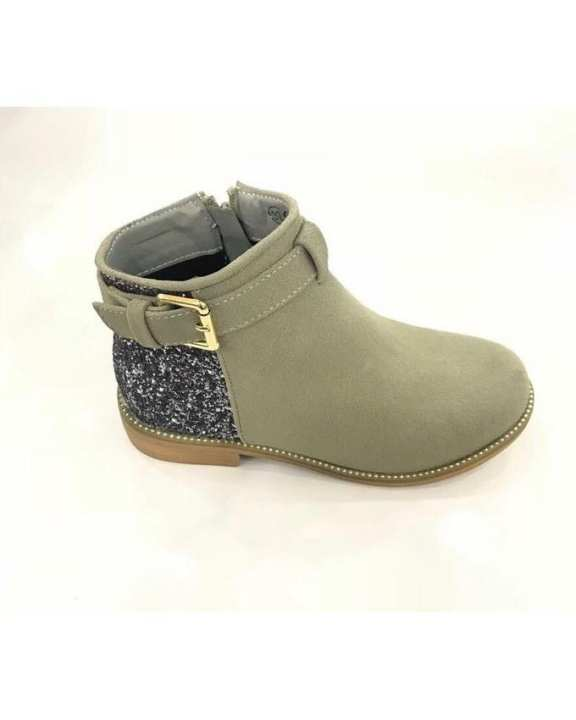 Grey Artificial Leather Shoes For Women -127-31-Gray-36