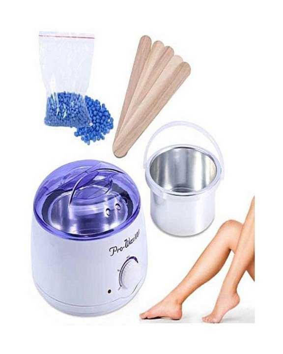 Pro Hub Wax Warmer Heater Machine + 200g Waxing Beans + 5pcs Hair Removal Sticks Set