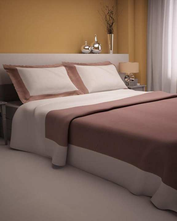 Brown - Sateen - Duvet & Pillow Set