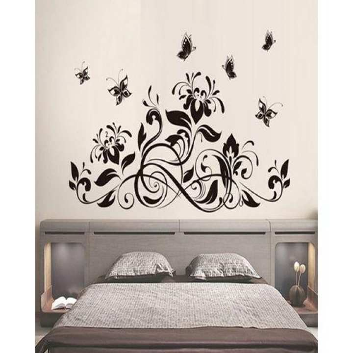 Decoration Wall  Sticker Flying Butterfly - Black