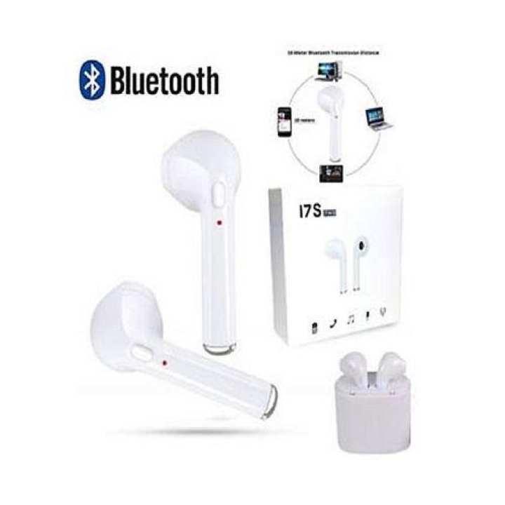 I7S Mini Bluetooth Headphone Sport Stereo Earphone - White/ Black