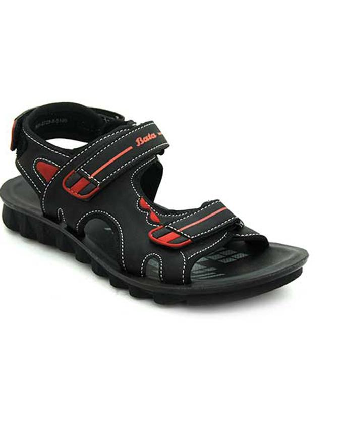7ddabd8ef4541 Weinbrenner Summer Black PU Synthetic Sandals For Men  Buy Online at ...