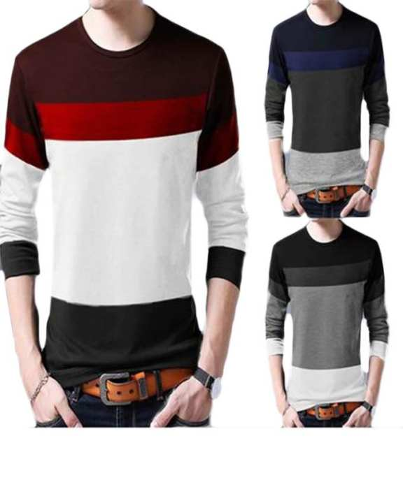Pack of 3 Multi Color Tone T-shirts