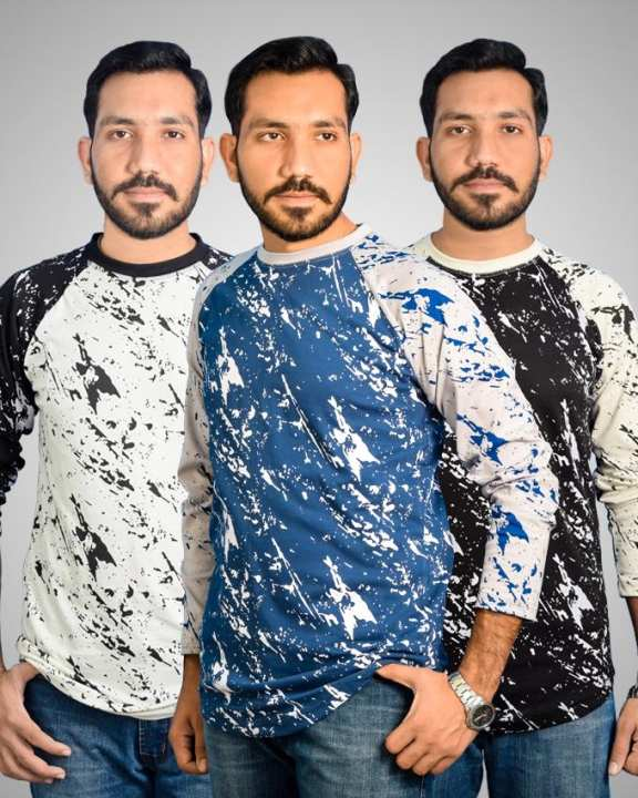 Pack Of 3 - Stylish Texture T-Shirts For Men