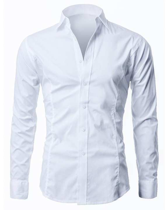 100% Cotton Formal Shirts for Men - White