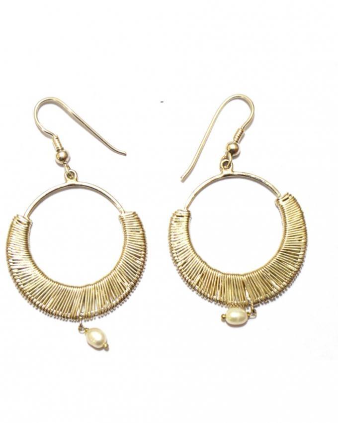White Silver Earrings For Women