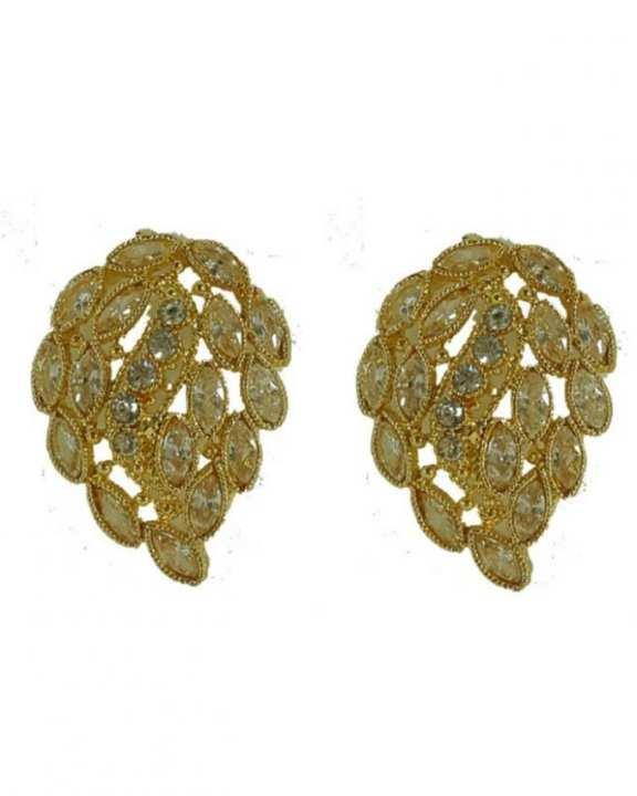 Gold Plated Metal Earrings For Women