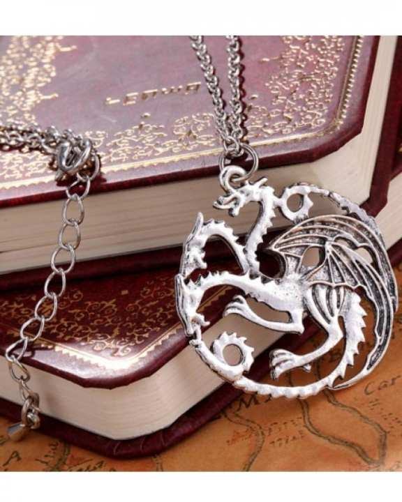 Classic Vintage Game Of Thrones Dragon Pendant Necklace