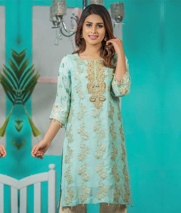 Gleam hand embroidered shirt for women