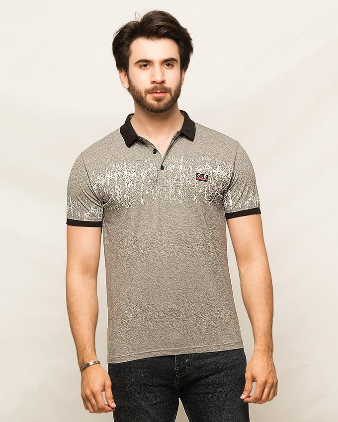 Gray Cotton T,Shirts For Men