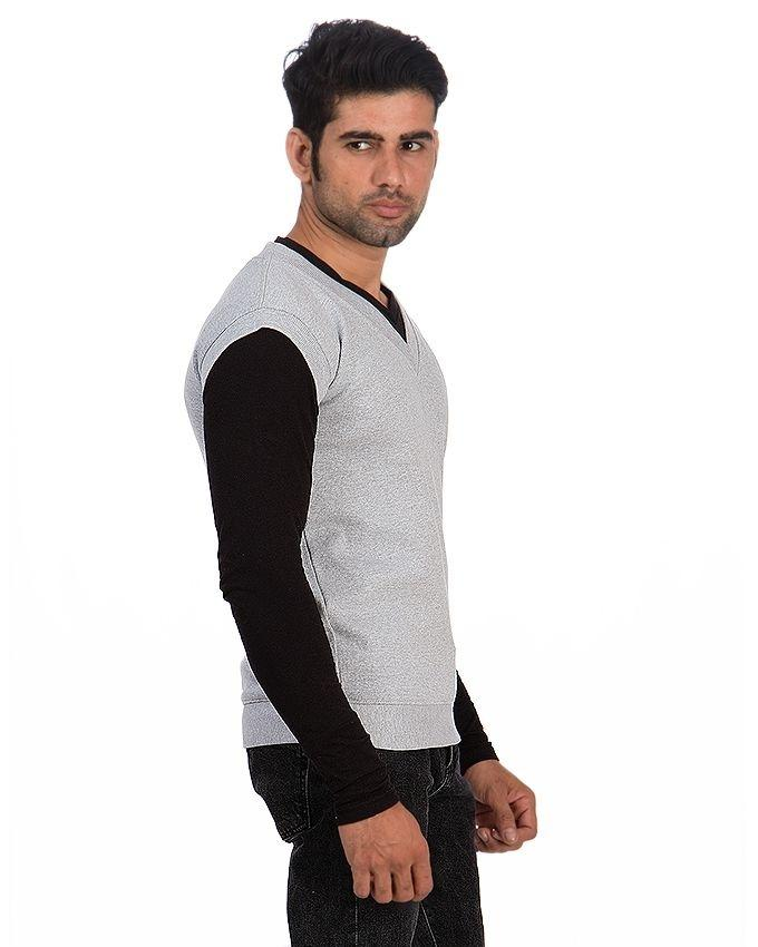 Pack of 2 - Navyblue & Grey Rib Knit Sweater For Men