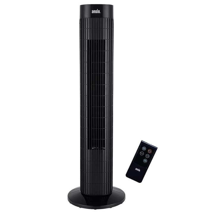 Oscillating Tower Fan 30-Inch With Remote Control 3-Speed