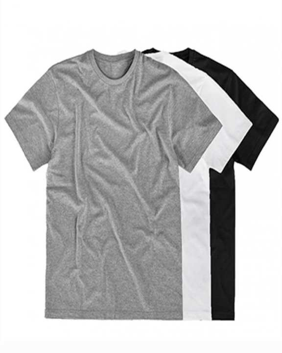 Pack Of 3 -Black,grey and white Plain T-Shirts For Men Pht-03-026