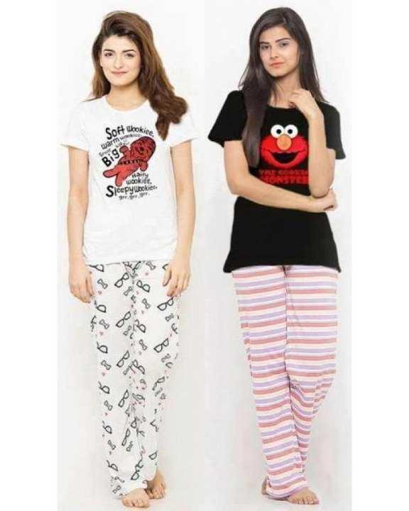 Pack of 2 - Multicolor Cotton Nightwear For Women