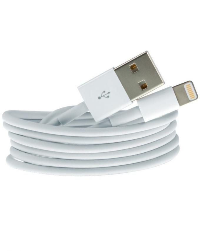 iPhone Charger With Data Cable - White
