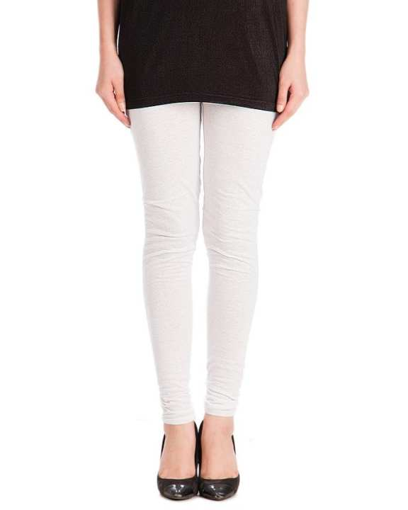 White Viscose Churidaar Tights For Women