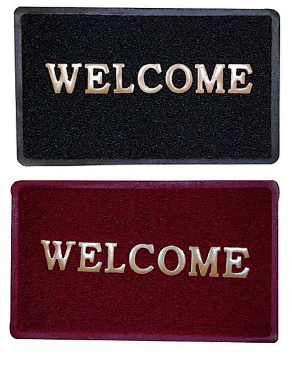 Pack Of 2 - Bathroom Mats Welcome Print - 34Cm X 58Cm