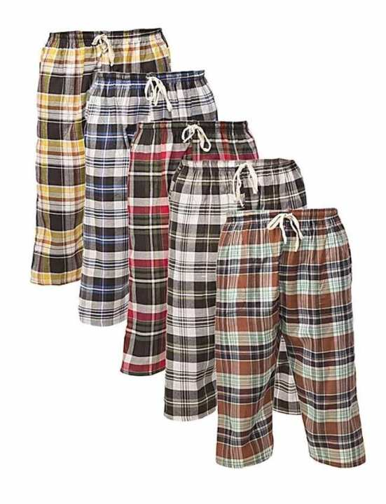 Pack of 5 Checkered Pajama