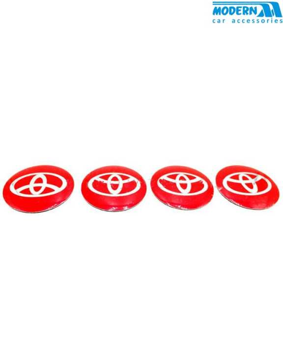 Toyota Wheel Cap Logo Red - 4 Pieces