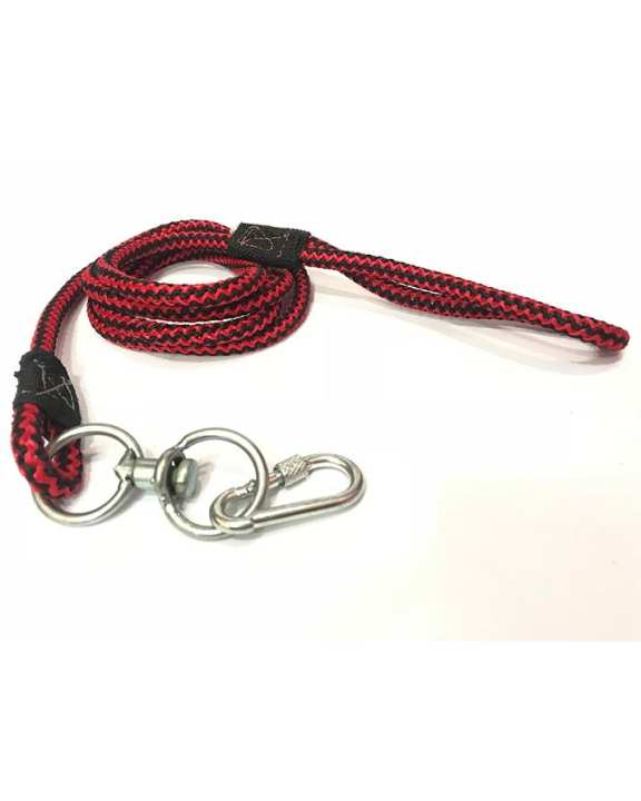Rope leash for dogs with easy grip