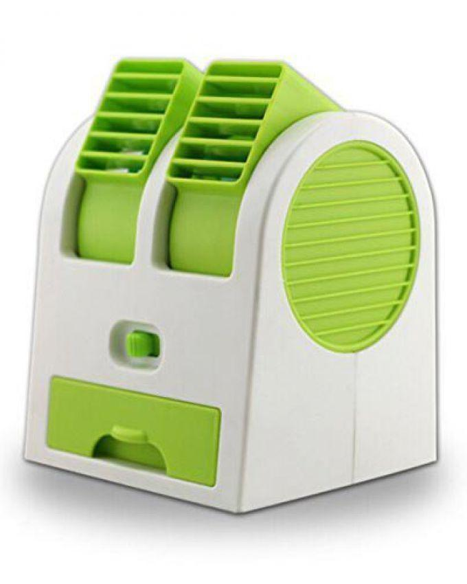 al asma Computer Mini Cooler Fan - Green & White