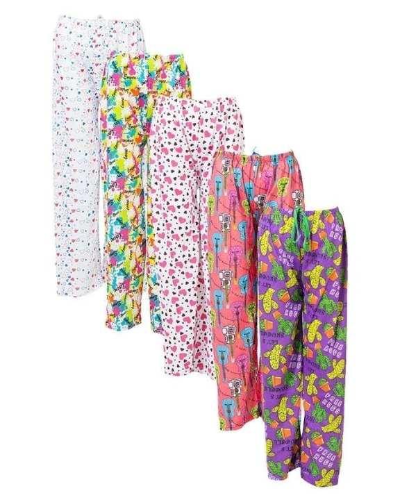 Pack of 5 - Night Wear Pajama - Multi Color