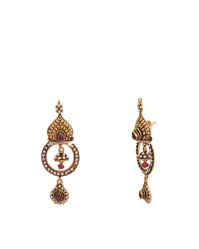 Golden Metal Earrings For Women
