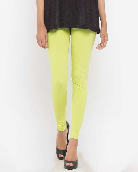 Parrot Green Cotton & Lycra Tights