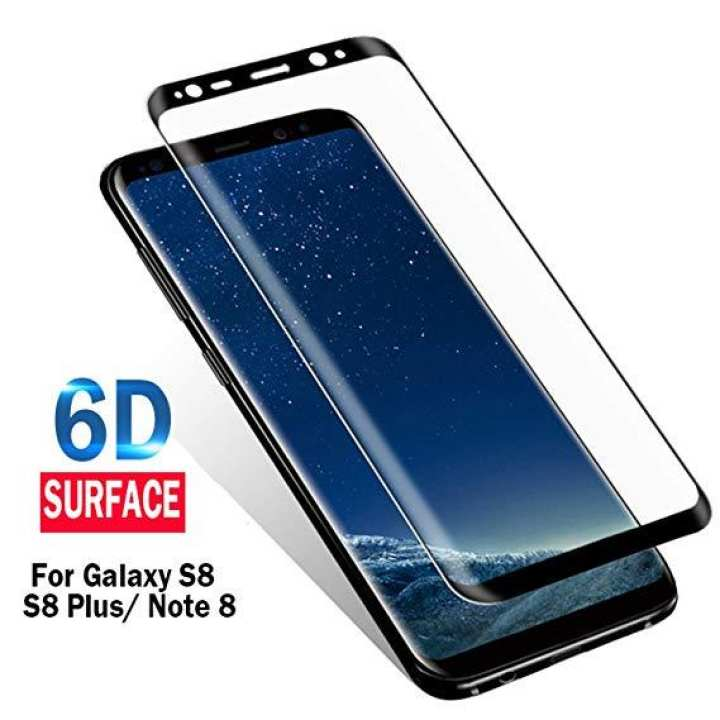 Screen Protector For Samsung S8 and Samsung S8 Plus - 6D Curved Full Cover Tempered Glass