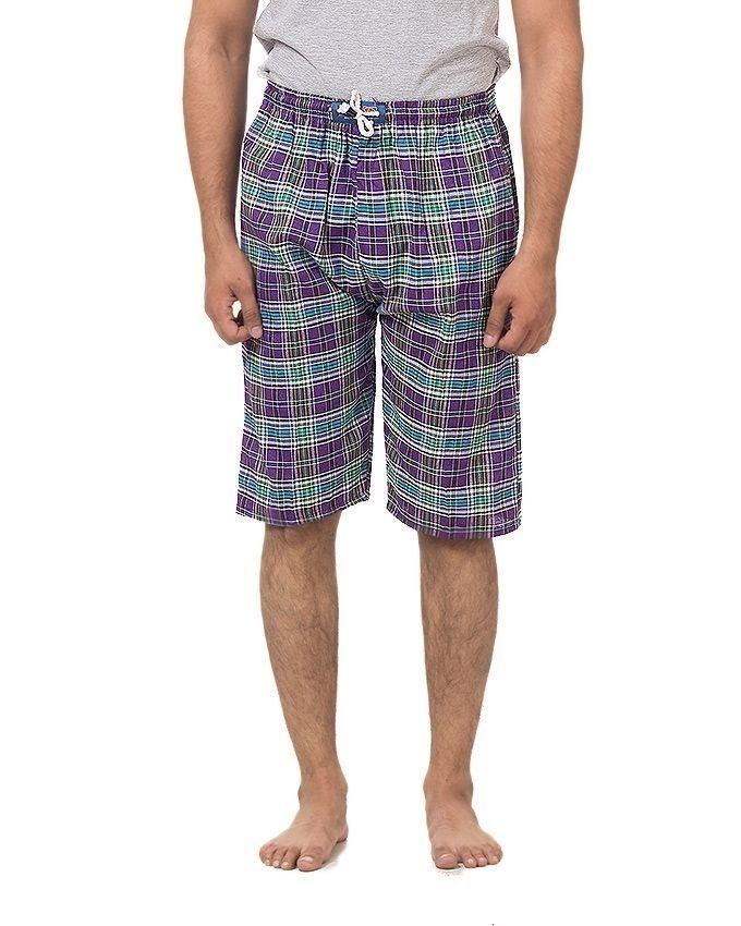 Pack of 5 - Multicolor Cotton Checkered Shorts For Men