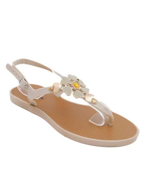 Cream Imported Italian Design Fancy Sandal for Women - C06