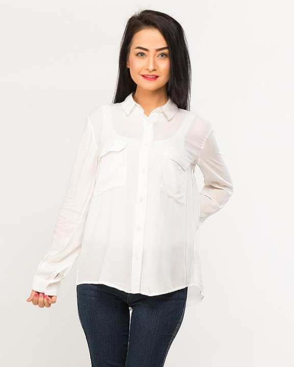 BEECHTREE - Absolute White 1-Pcs Shirt For Women
