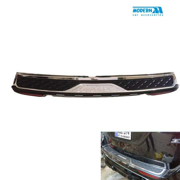 Toyota Fortuner Rear Bumper Protector With Reflector - Model 2016-2017