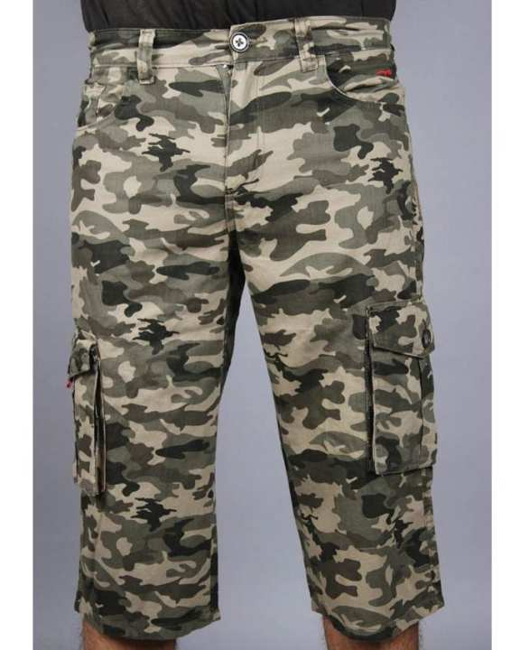 Camouflage Cotton Cargo Shorts for Men