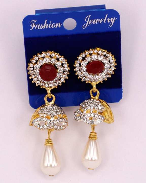 White Zarcone women earrings