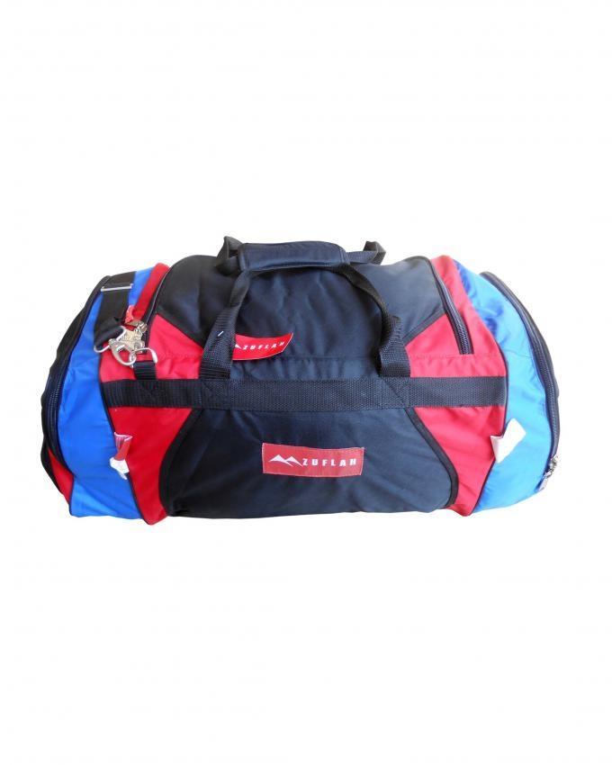 Travel Bag - Large - Red, Black & Royal Blue