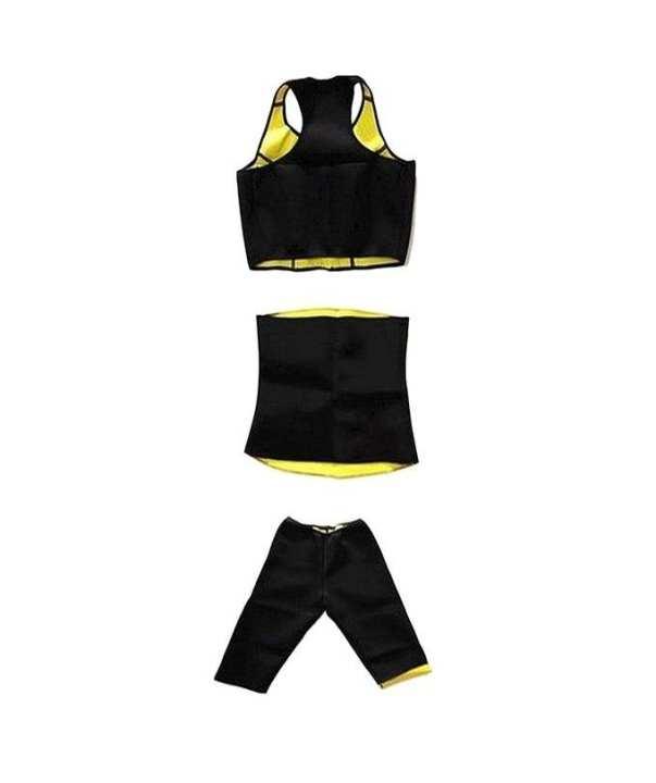Pack of 3 - Hot Shaper Belt, Trouser & Bra - Black