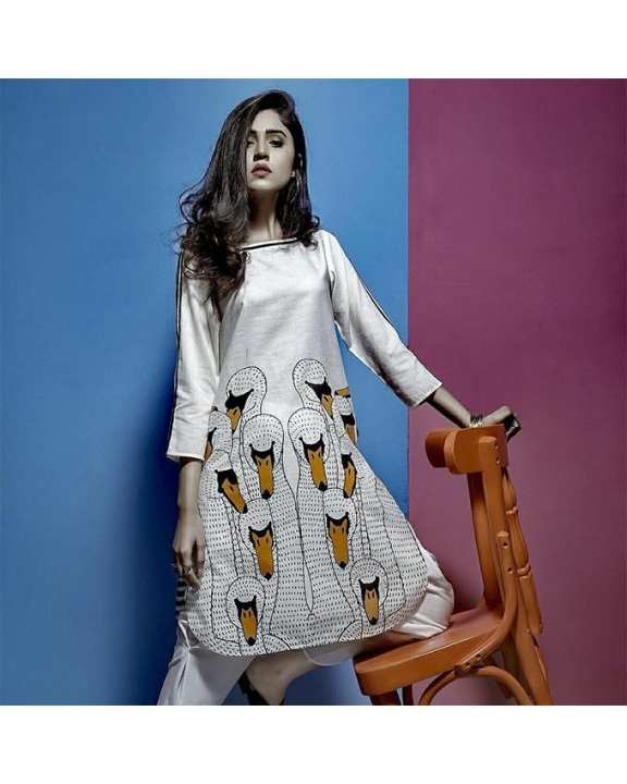 Duck Print Kurti For Women