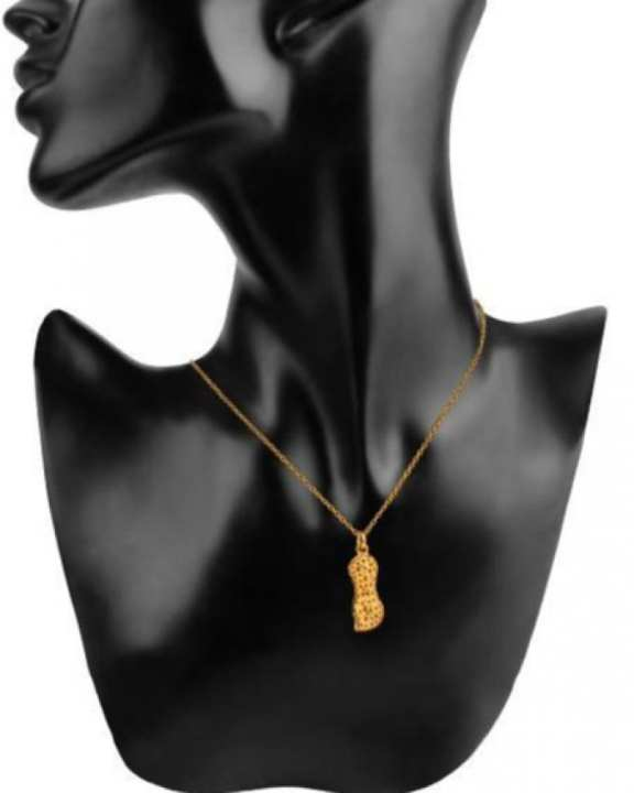 Gold Platted on Stainless Steel Peanut Necklace - Riz_31072