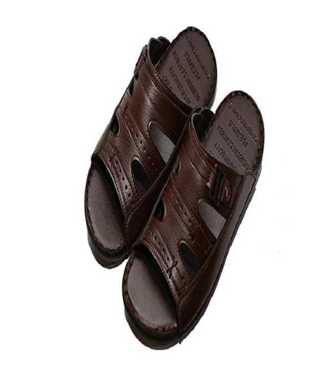 Brown Rubber Slipper For Men