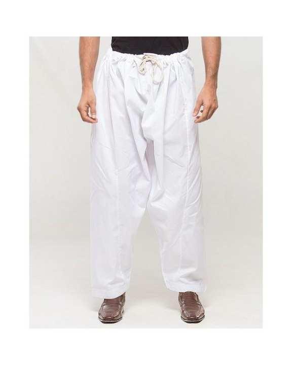 White Cotton Men's Shalwar